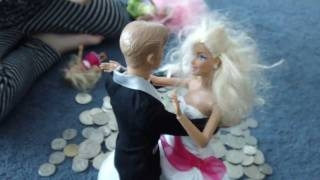 Wedding Barbie & Ken Dancing on Money Coins Princess Anika and Pink Hair Bratz doll барби аника