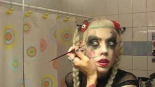 "Adora's goth make-up tutorial #2 ""The practice"""