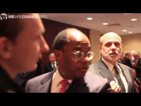 Ben Bernanke Confronted on Secret Federal Reserve Bailouts