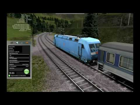 Rail Simulator 2: RailWorks. Dissen-Berndorf with DB-101!! indian trainz simulator видео