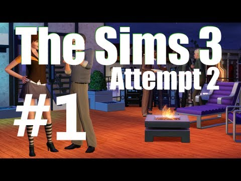Sims 3 Attempt 2 w/ Redcoat! #1 Making our brand new home!
